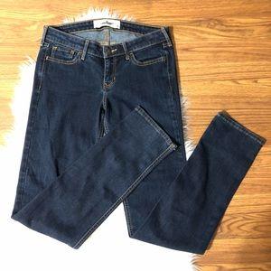Hollister Jeans Straight Leg Dark 7 Long 28 x 34